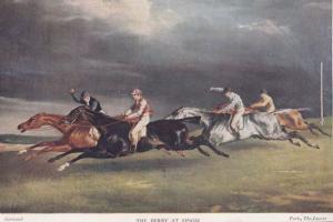 Epsom Derby Medici Horse Racing Track Vintage Postcard