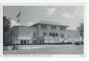 W/B Oroville Union High School Ororville California CA