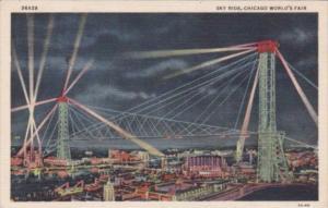 Sky Ride By Illumination Chicago World's Fair 1933 Curteich
