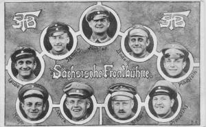 GERMAN SOLDIERS-Sächsische Frontbühne~WW1 MILITARY PHOTO POSTCARD