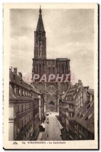 Strasbourg Old Postcard The cathedral
