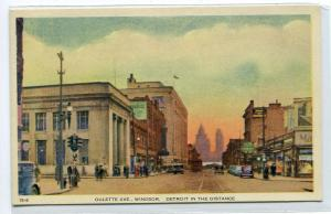 Oulette Avenue Windsor Ontario Canada 1940s postcard