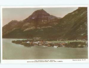 old rppc NICE VIEW Waterton Park - Near Lethbridge Alberta AB W0810
