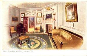 Virginia Mount Vernon Home Of Washington The West Parlor