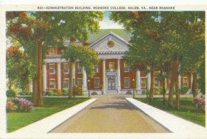 America Postcard - Administration Building - Roanoke College - Virginia - TZ6929