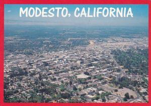 Modesto Califorinai Birds Eye View Of Modesto California