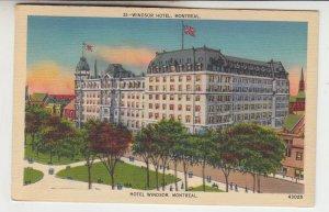 P2225 1939 postcard hotel winsdor montreal canada birds eye view