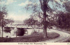 WEYAUWEGA WISCONSIN - PRINK'S BRIDGE 1923