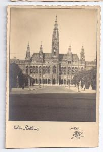 Austria Vienna Wien Rathaus City Hall RPPC Real Photo