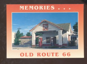 MEMORIES OLD ROUTE 66 Yup GAS STATION POSTCARD