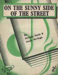 On The Sunny Side Of The Street 1950s Sheet Music