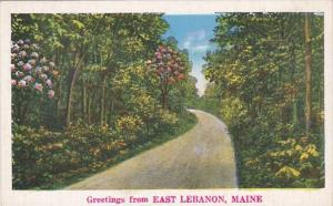 Maine Greetings From East Lebanon