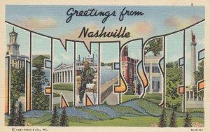 Large Letter NASHVILLE, Tennessee, 30-40s