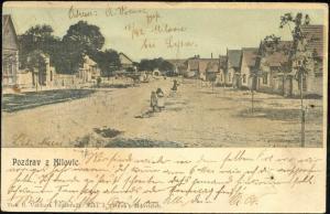 czech, MILOVICE MILOWITZ, Street Scene (1899)