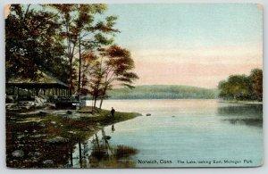 Norwich Connecticut~Mohegan Park~Lake Front Pavilion~Welcome Home Souvenir~1909