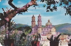 A Panoramic view of Santa Prisca Church,  Taxco,  Gro.,  Mexico,   PU_40-60s