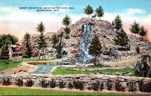 Wisconsin Milwaukee Sheep Mountain In Washington Park Zoo