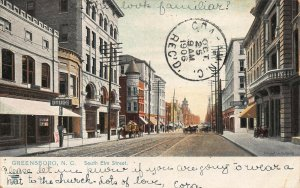 GREENSBORO NC~SOUTH ELM STREET~1906 TUCK SERIES 5170 POSTCARD