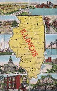 Map Of Illinois & Multiple Views
