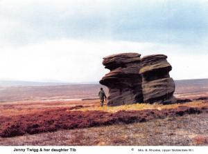 Postcard Jenny Twigg & Daughter Tib, Fountains Earth Moor, Nidderdale, Yorks N63