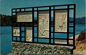 WHISKEYTOWN LAKE, CA Roadside JFK KENNEDY MEMORIAL 1960s Shasta County  Postcard
