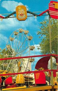 Saint Louis MO Forest Park Highlands Ferris Wheel Amusement Park Postcard