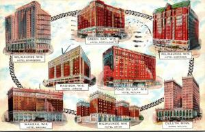 Wisconsin Schroeder Hotels Multiple Views 1932