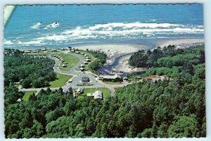 CLEARWATER, WA ~ Aerial View KALALOCH BEACH OCEAN VILLAGE 1972 ~ 4x6 Postcard