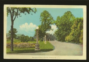 Postmarked 1946 Strathroy Ont Springbank Park London Ontario Color Postcard