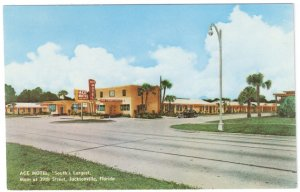 Ace Motel South's Largest Jacksonville Florida FL Vintage Postcard