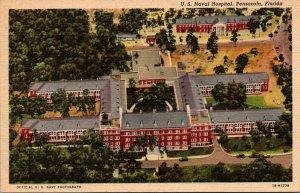 Florida Pensacola U S Naval Hospital Curteich