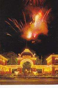 Italy Tivoli Main Entrance By Night