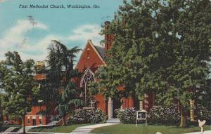 First Methodist Church, Washington, Georgia, PU-1953
