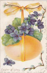 EASTER , Egg & Flowers , PU-1907 ; TUCK