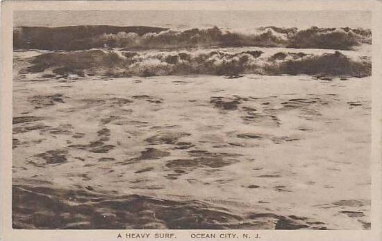 New Jersey Ocean City A Heavy Surf Albertype