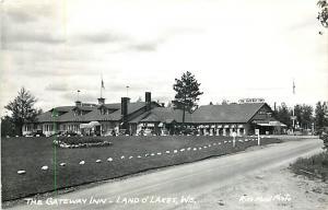 RPPC of The Gateway Inn Land o' Lakes Wisconsin WI