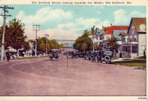 OLD ORCHARD STREET LOOKING TOWARD THE WATER OLD ORCHARD, ME 1928