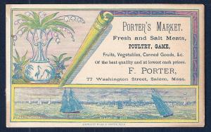 VICTORIAN TRADE CARD Porters Meat Market