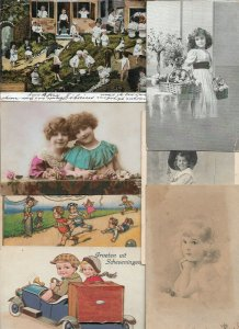 Vintage Mix Babies and Kids Victorian Style Postcard Mix of 50 Plus  01.19