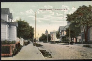 Nova Scotia YARMOUTH Parade Street View - Divided Back