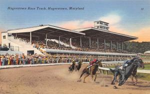 Hagerstown, Maryland Horse Racing Postcard Hagerstown, Maryland USA Unused