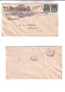 Victorian Advertising Cover TS Pattillo &Co Books Stationery Truro Nova Scoti...