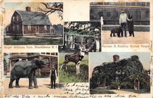 9629 RI Providence    Multi-view  Roger Williams Park Elephant,Bear, Stag,