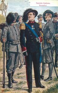 Bersaglieri italian alpine riflemen captain uniform Italy vintage artist PC