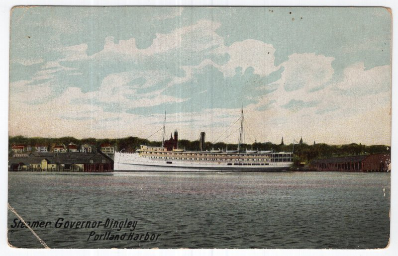 Steamer Governor Dingley, Portland Harbor
