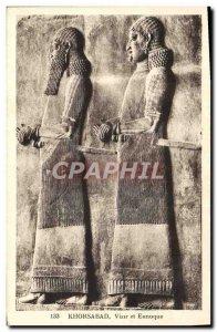 Old Postcard Khorsabad Vizier And Eunuch