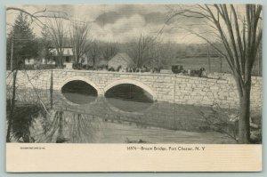 Port Chester New York~Horse Buggy Leads Way~Bryam Street Bridge~Home~Barn~1905