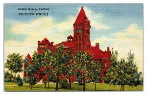 Central College Building, Belleview Schools, Denver, CO Postcard *6V(2)17