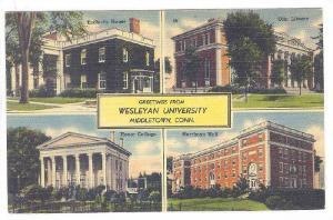 4-Views, Wesleyan University, Middletown, Connecticut, 1930-1940s