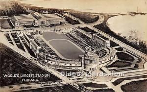 World's Largest Stadium Real Photo, Chicago, Illinois, IL, USA Stadium 1931